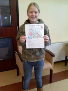 2014 Coloring Contest Winner - Lydia