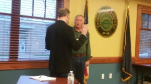Rick Brewster Council Swearing In